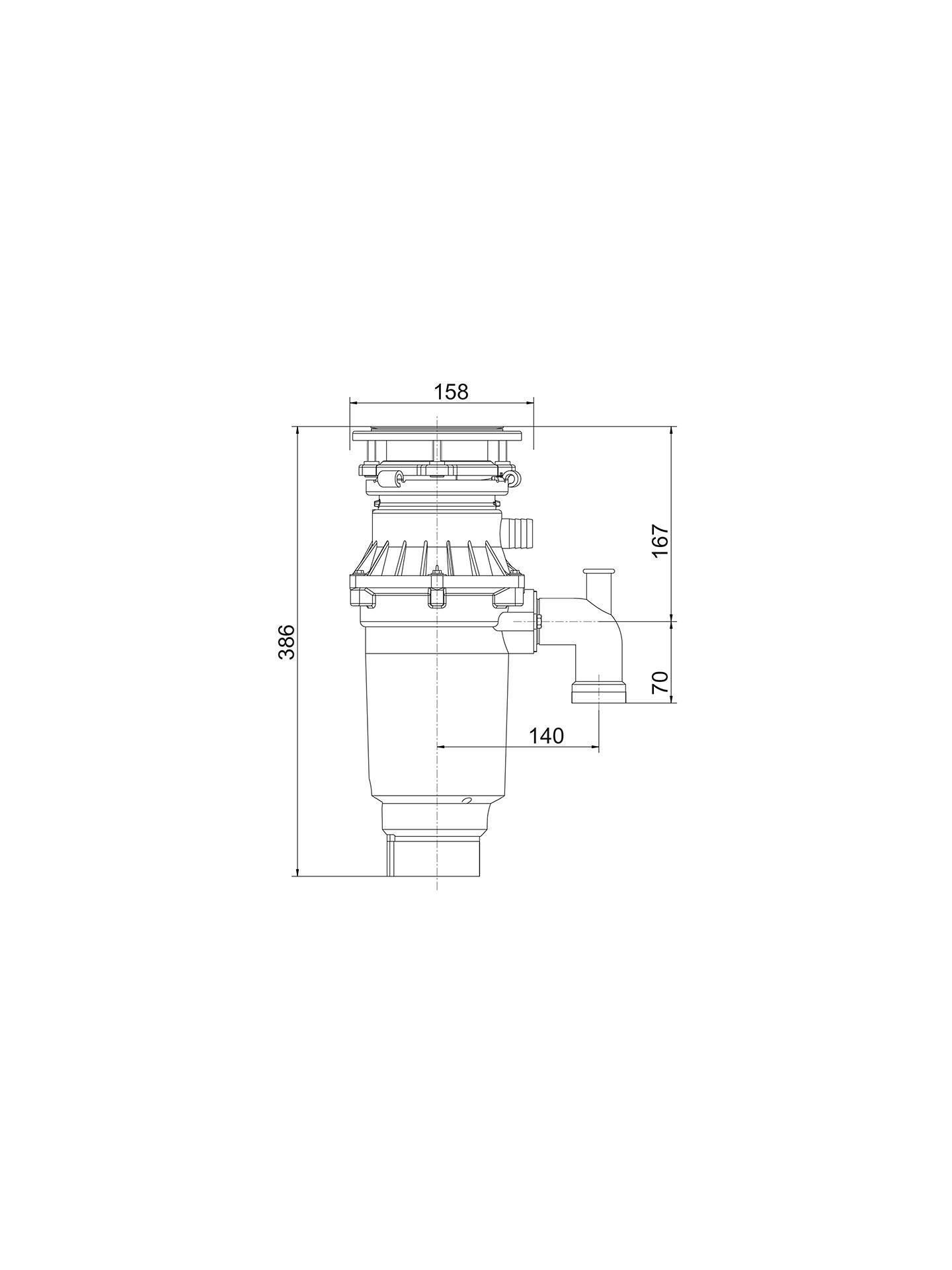 Franke Turbo Elite Te 75s Slimline Waste Disposal Unit At John Lewis Garabage Disopable 3 Way Schematic Wiring Diagram Buyfranke Online