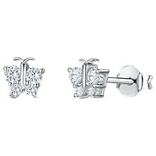 Buy Jools by Jenny Brown Butterfly Cubic Zirconia Stud Earrings, Silver Online at johnlewis.com