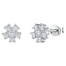 Buy Jools by Jenny Brown Cubic Zirconia Flower Stud Earrings, Silver Online at johnlewis.com