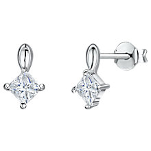 Buy Jools by Jenny Brown Rotated Drop Cubic Zirconia Earrings, Silver Online at johnlewis.com