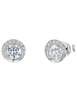 Jools by Jenny Brown Circular Cubic Zirconia Stud Earrings, Silver