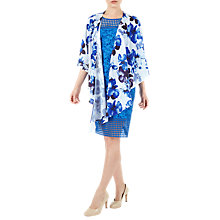 Buy Jacques Vert Riviera Floral Print Chiffon Wrap, Navy Online at johnlewis.com
