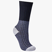 Buy John Lewis Rib Colour Block Ankle Socks Online at johnlewis.com