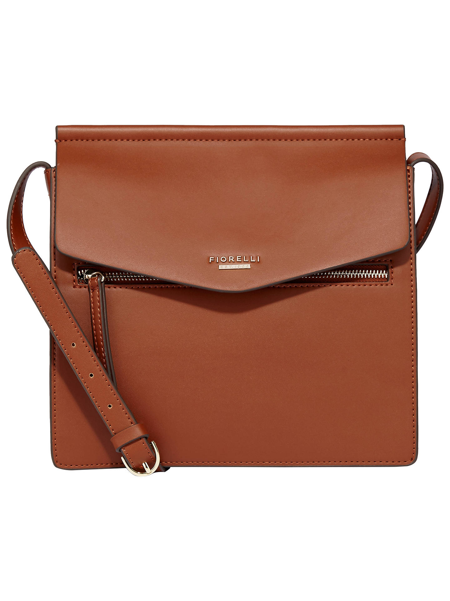 Fiorelli Mia Large Across Body Bag Tan Online At Johnlewis