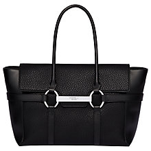 Buy Fiorelli Barbican Large Flapover Tote Bag, Black Casual Mix Online at johnlewis.com