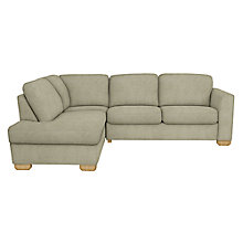 Buy John Lewis Cooper LHF Corner Chaise Sofa, Light Leg, Elena Mocha Online at johnlewis.com