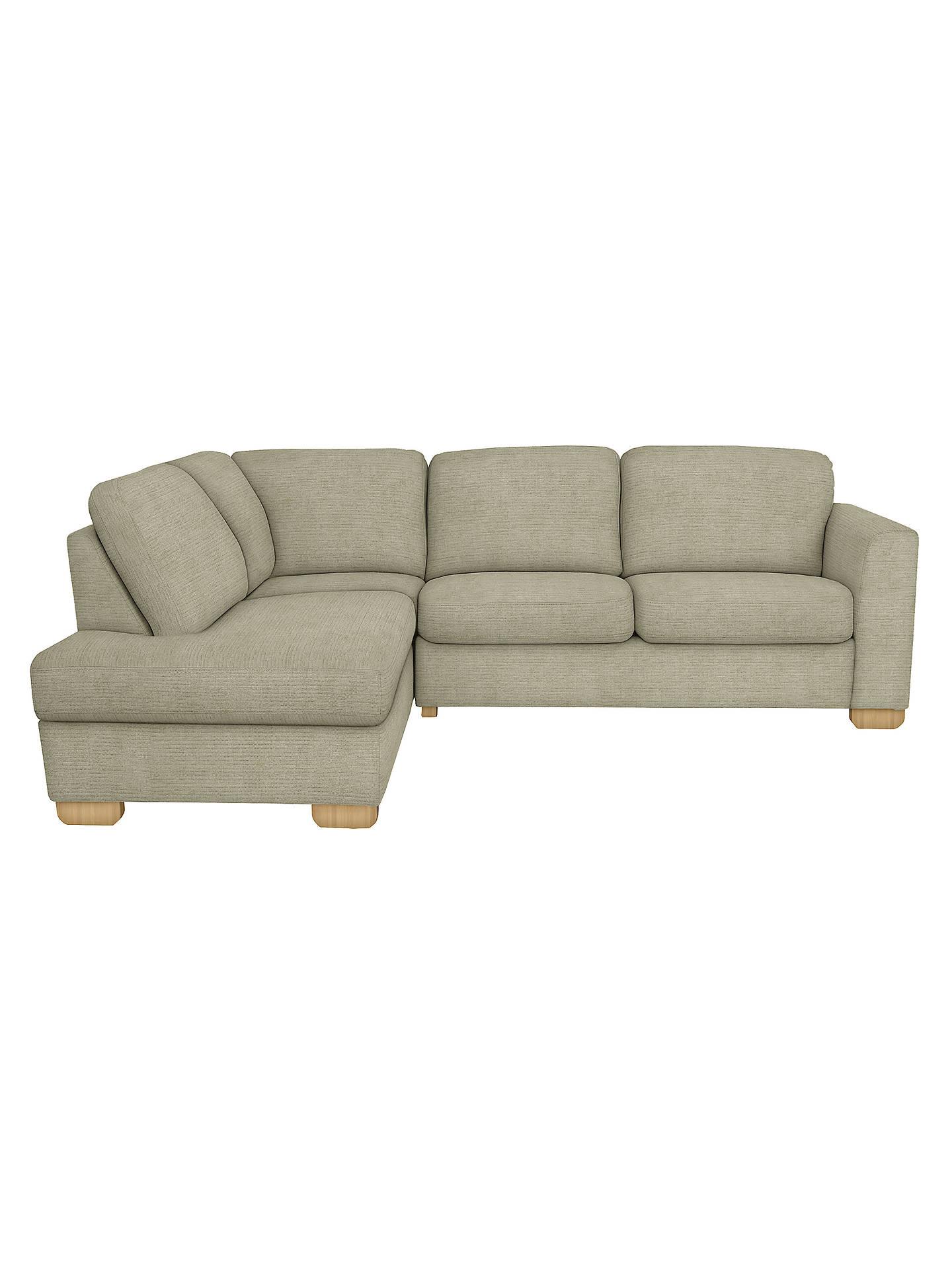 John Lewis Cooper LHF Corner Chaise Sofa, Light Leg, Elena Mocha at ...