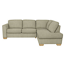 Buy John Lewis Cooper RHF Corner Chaise Sofa, Light Leg, Elena Mocha Online at johnlewis.com