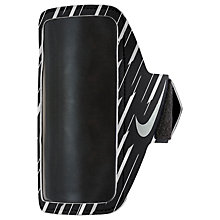 Buy Nike 360 Flash Lean Armband, Black/Silver Online at johnlewis.com