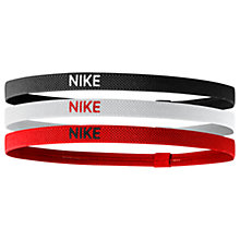Buy Nike Elastic Headband, Pack of 3, Black/White/Red Online at johnlewis.com