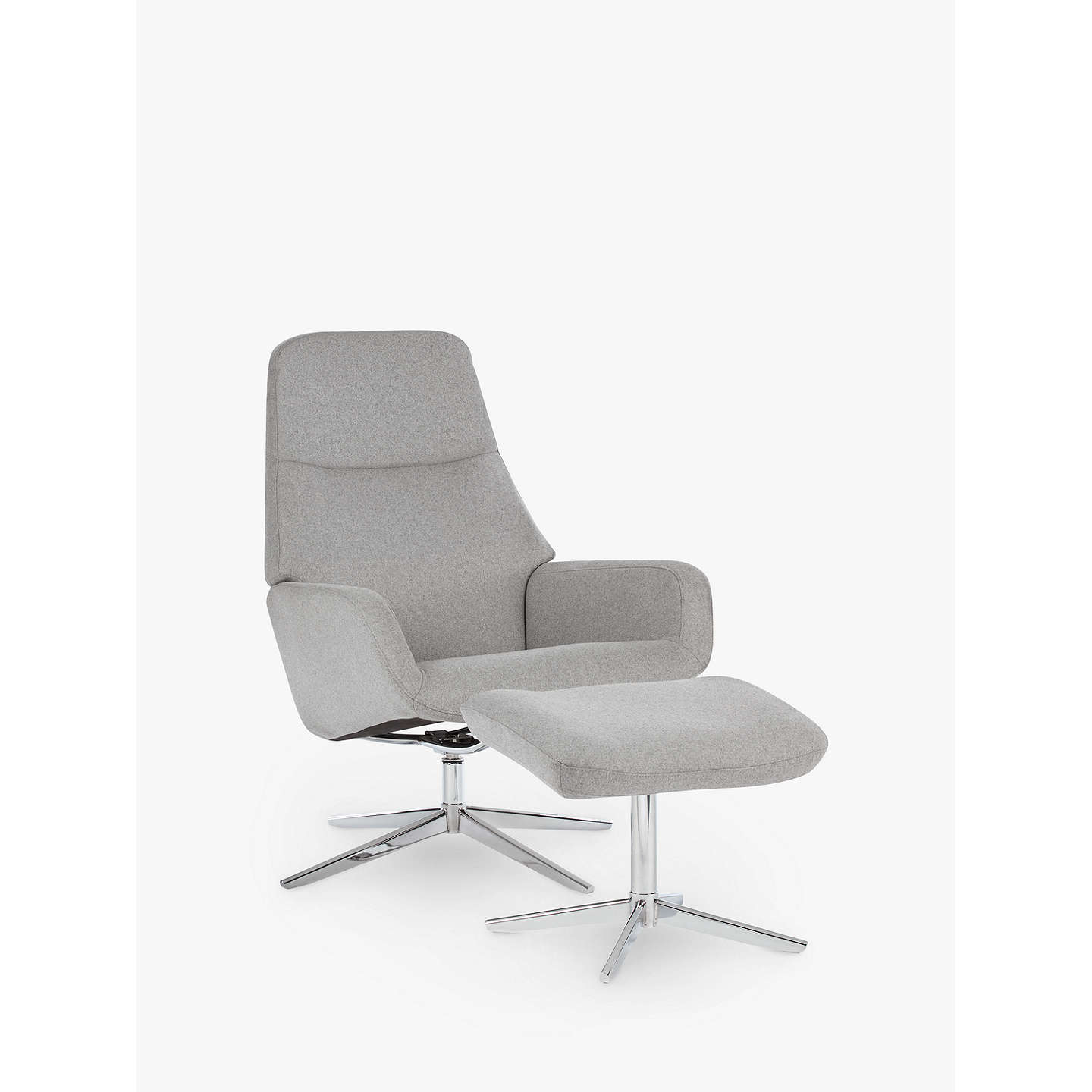 office chairs john lewis. BuyDesign Project By John Lewis No.122 Reclining Chair With Footstool, Grey Felt Online Office Chairs I