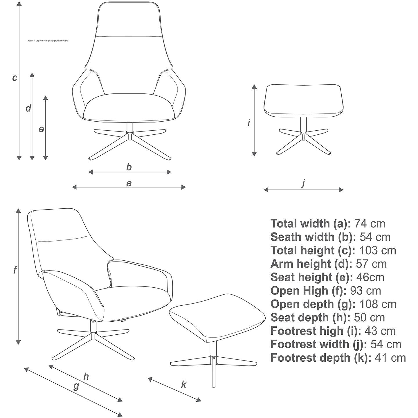 design project by john lewis no 122 reclining chair with footstool