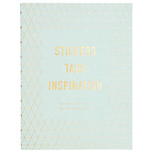 Buy kikki.K DIY Sticker Book, Inspiration Online at johnlewis.com