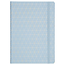 Buy kikki.K A4 Bonded Leather Journal, Blue Online at johnlewis.com
