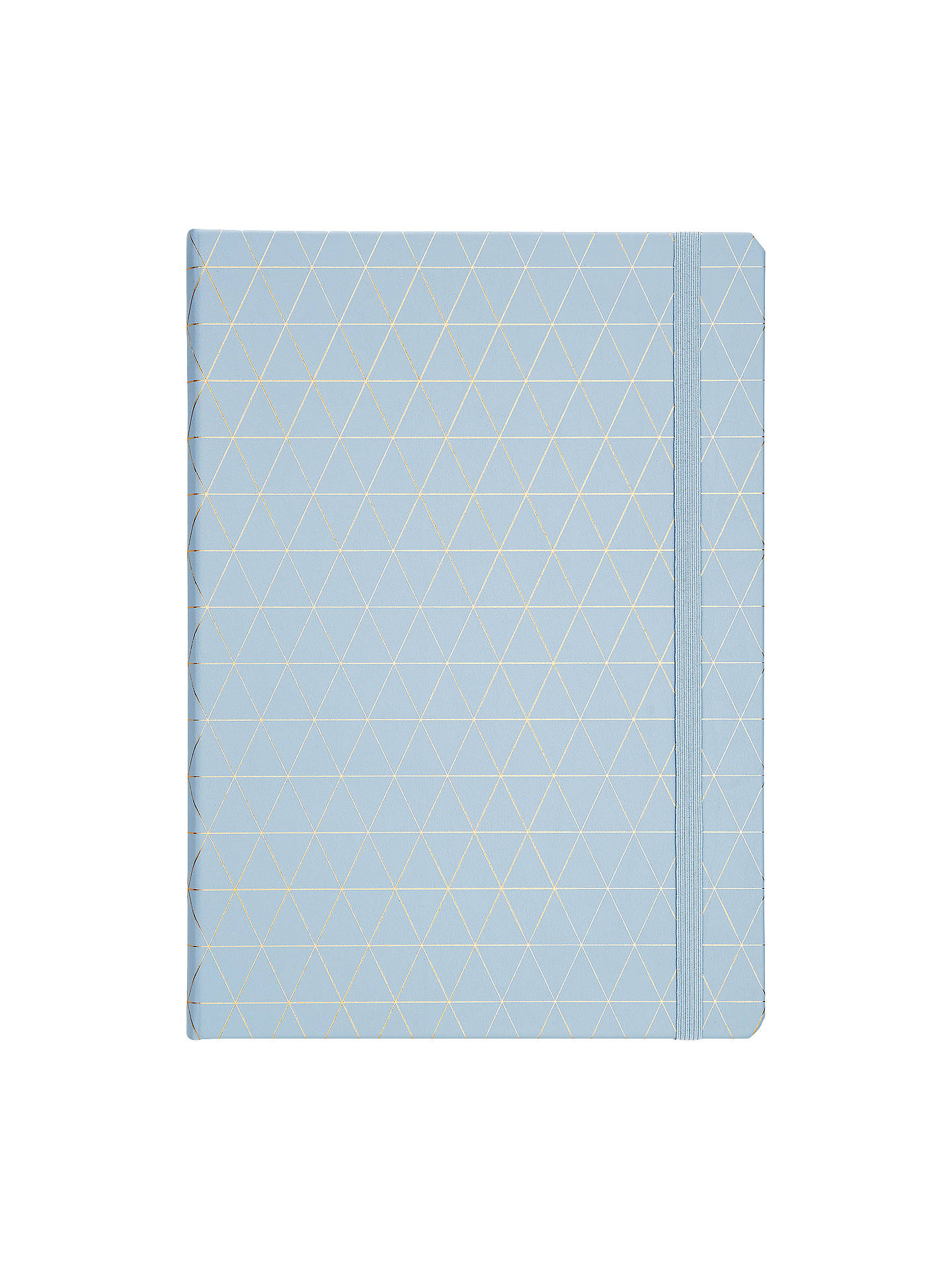 Buykikki.K A4 Bonded Leather Journal, Blue Online at johnlewis.com