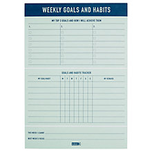 Buy kikki.K B5 Weekly Goals & Habits Pad, Inspiration Online at johnlewis.com