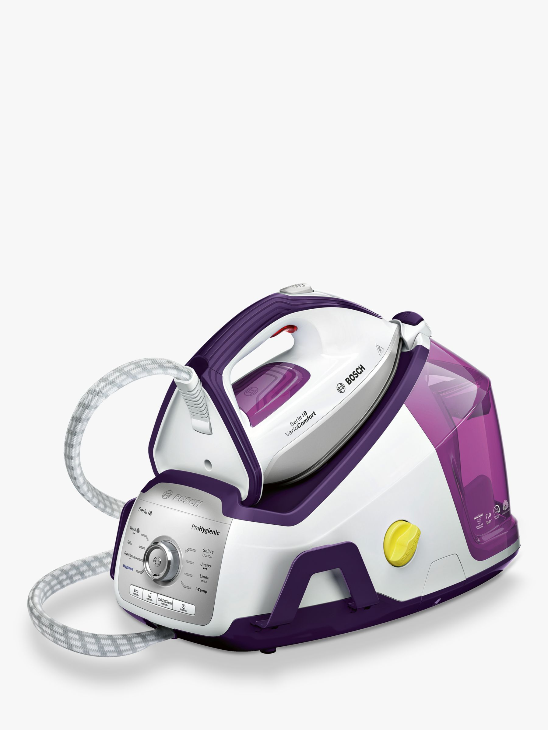 Buy Bosch TDS8040GB ProHygienic Steam Generator Iron, Purple Online at johnlewis.com