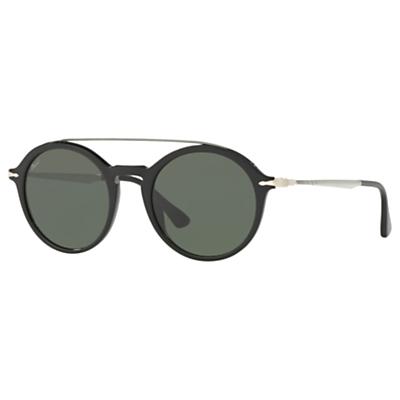 Persol PO3172S Polarised Round Sunglasses, Silver/Grey