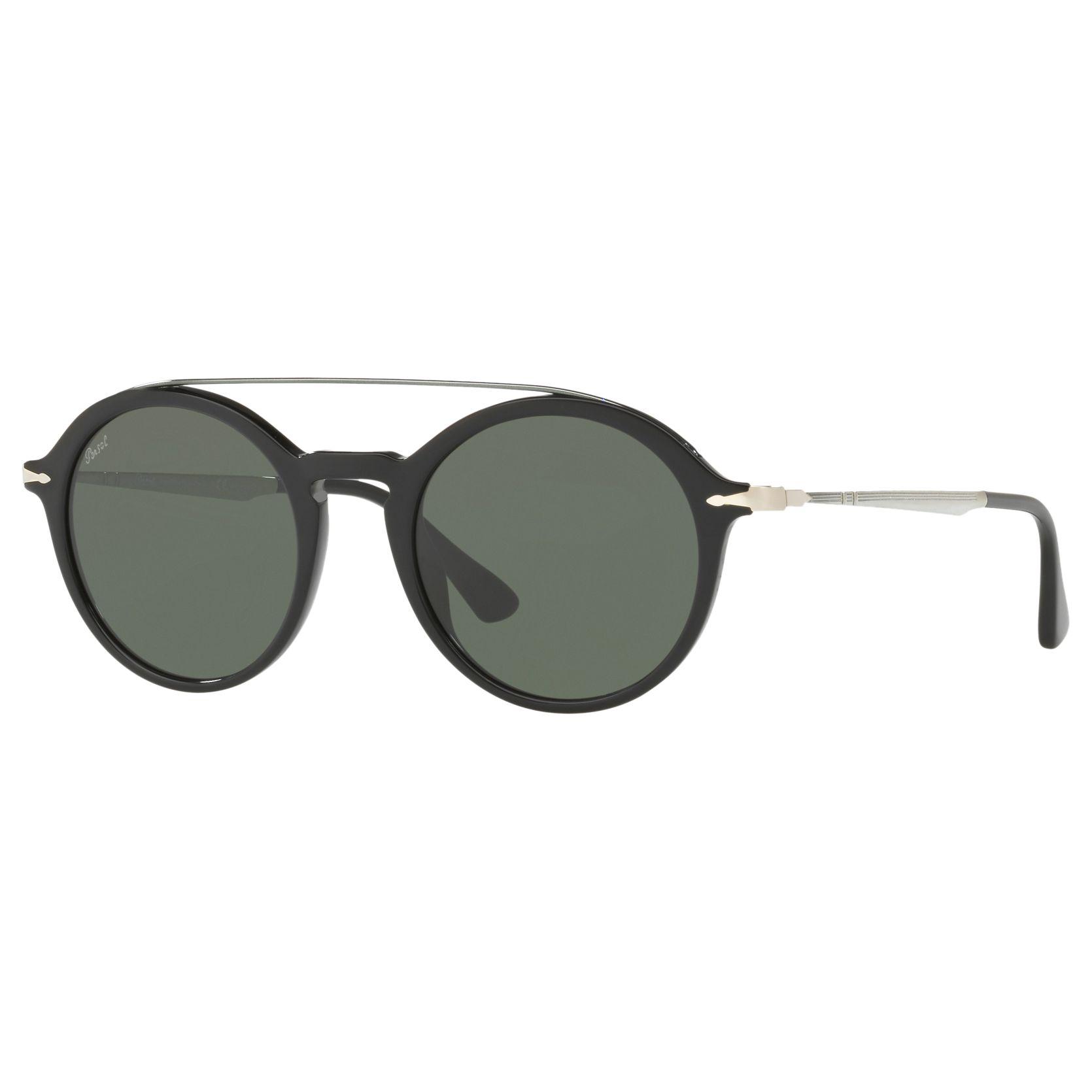 Persol Persol PO3172S Polarised Round Sunglasses, Silver/Grey