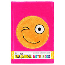 Buy Emoji Fluffy Notebook, Pink Online at johnlewis.com