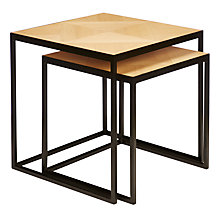 Buy John Lewis Clay Nest of 2 Tables, Oak Online at johnlewis.com