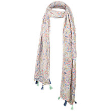 Buy Fat Face Children's Elephant Doodle Scarf, Natural Online at johnlewis.com