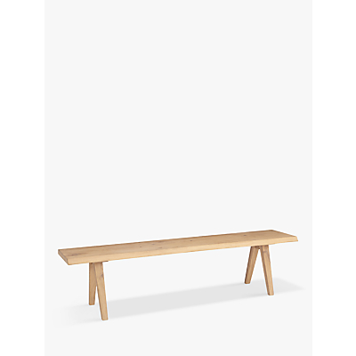 Croft Collection Lorn 4 Seater Dining Bench, Oak