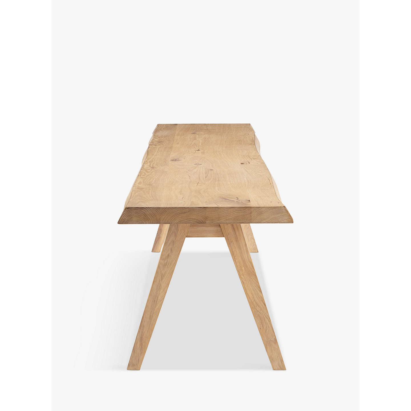 BuyCroft Collection Lorn 4 Seater Dining Bench, Oak Online at johnlewis.com
