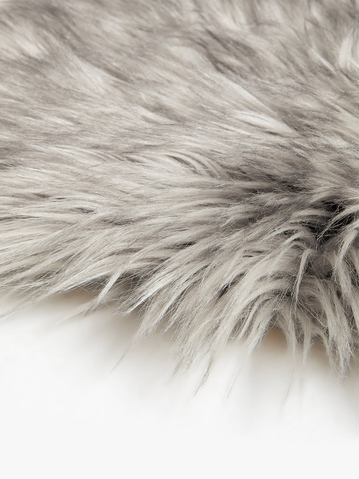 Buy John Lewis & Partners Faux Fur Sheepskin Rug, Grey Tip Online at johnlewis.com