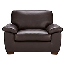 Buy John Lewis Camden Leather Snuggler, Dark Leg Online at johnlewis.com