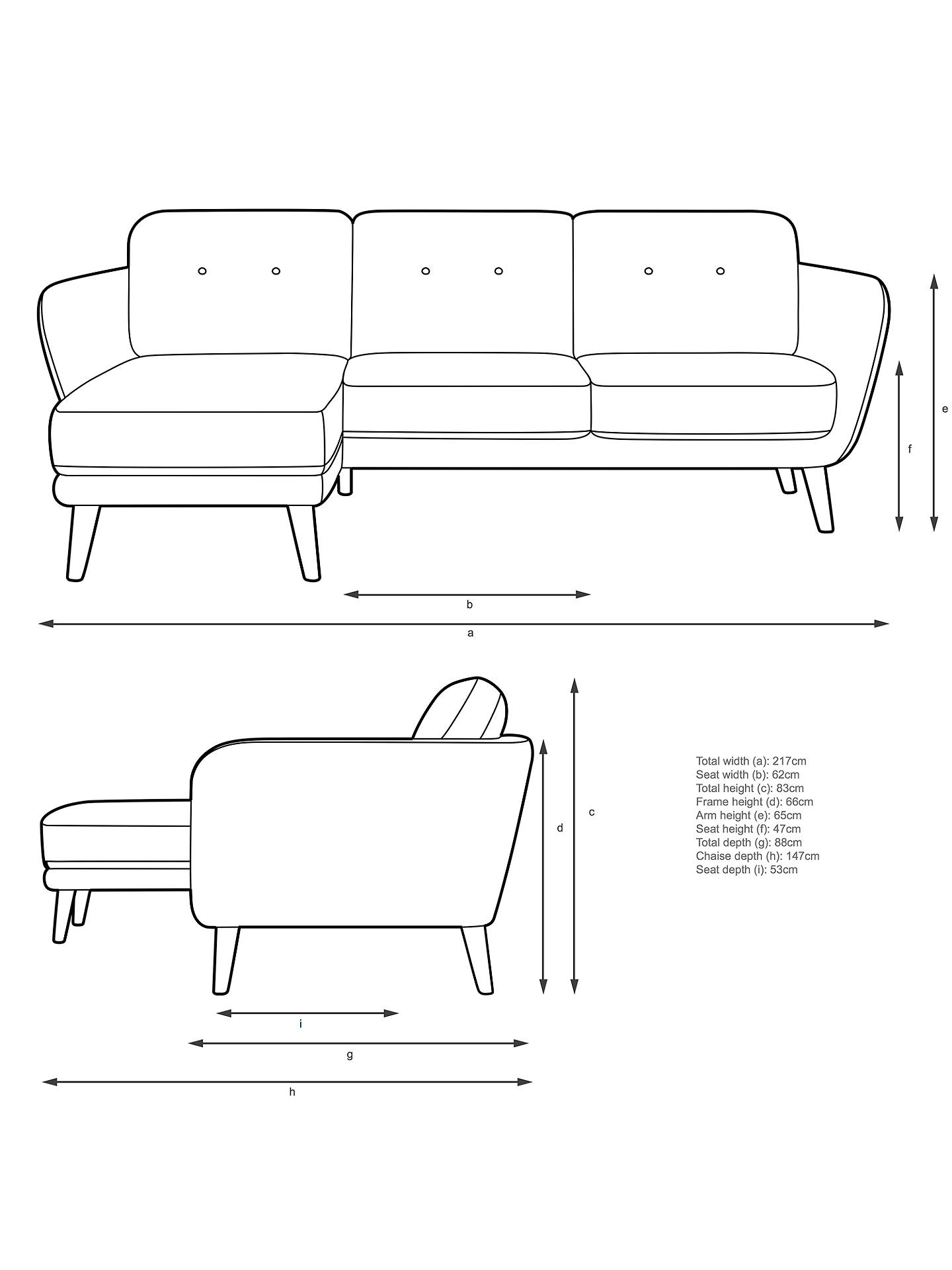 BuyJohn Lewis & Partners Arlo LHF Chaise End Sofa, Light Leg, Dylan Natural Online at johnlewis.com