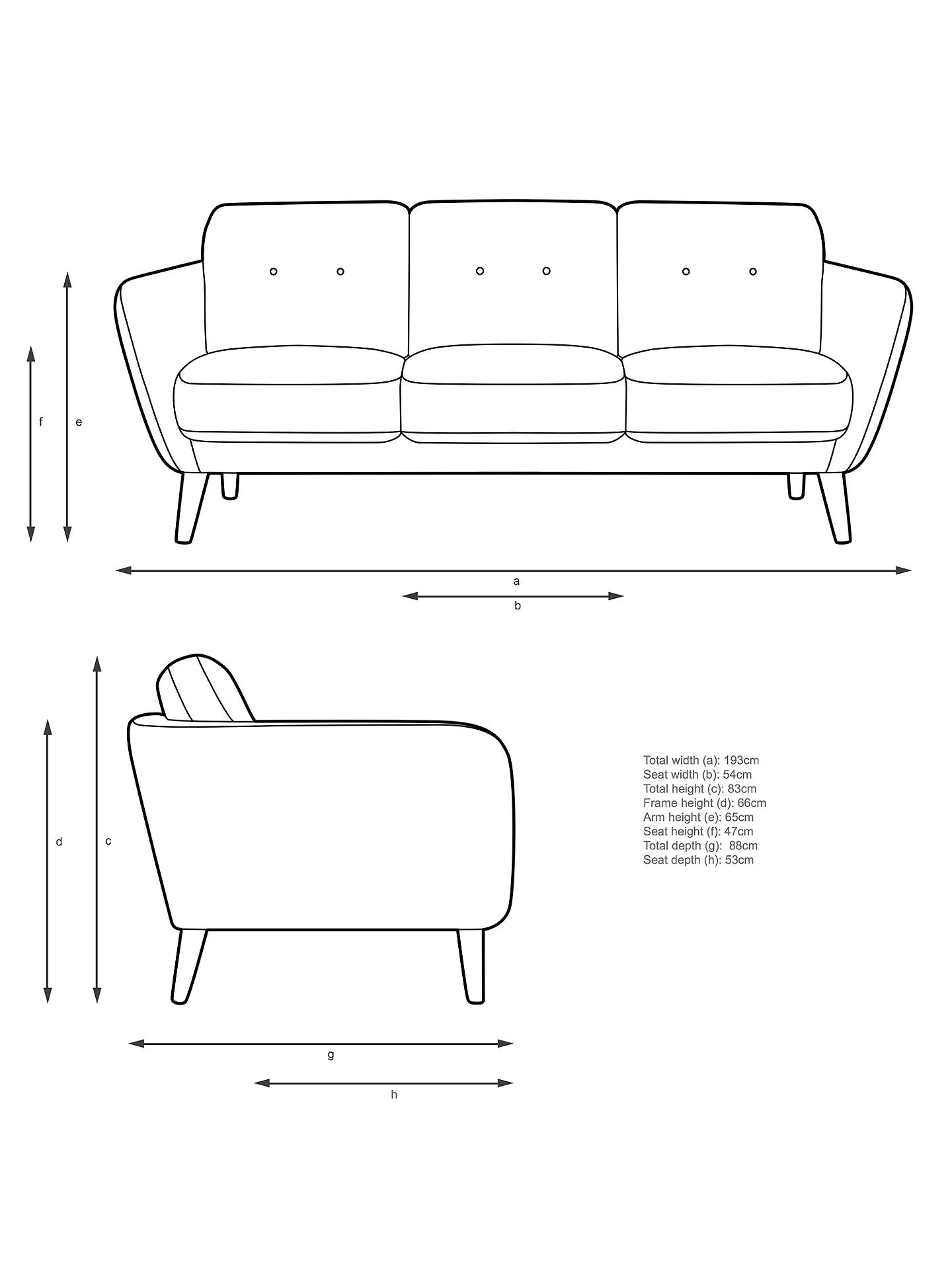 BuyJohn Lewis & Partners Arlo Large 3 Seater Sofa, Light Leg, Dylan Natural Online at johnlewis.com
