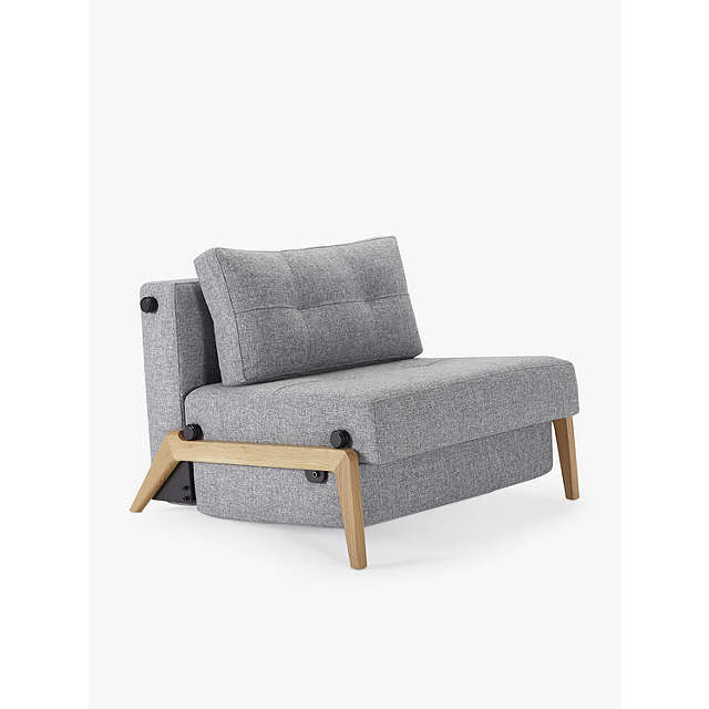 BuyInnovation Cubed 90 Chair Bed with Serpentine Sprung Foam Mattress, Twist Granite Online at johnlewis.com