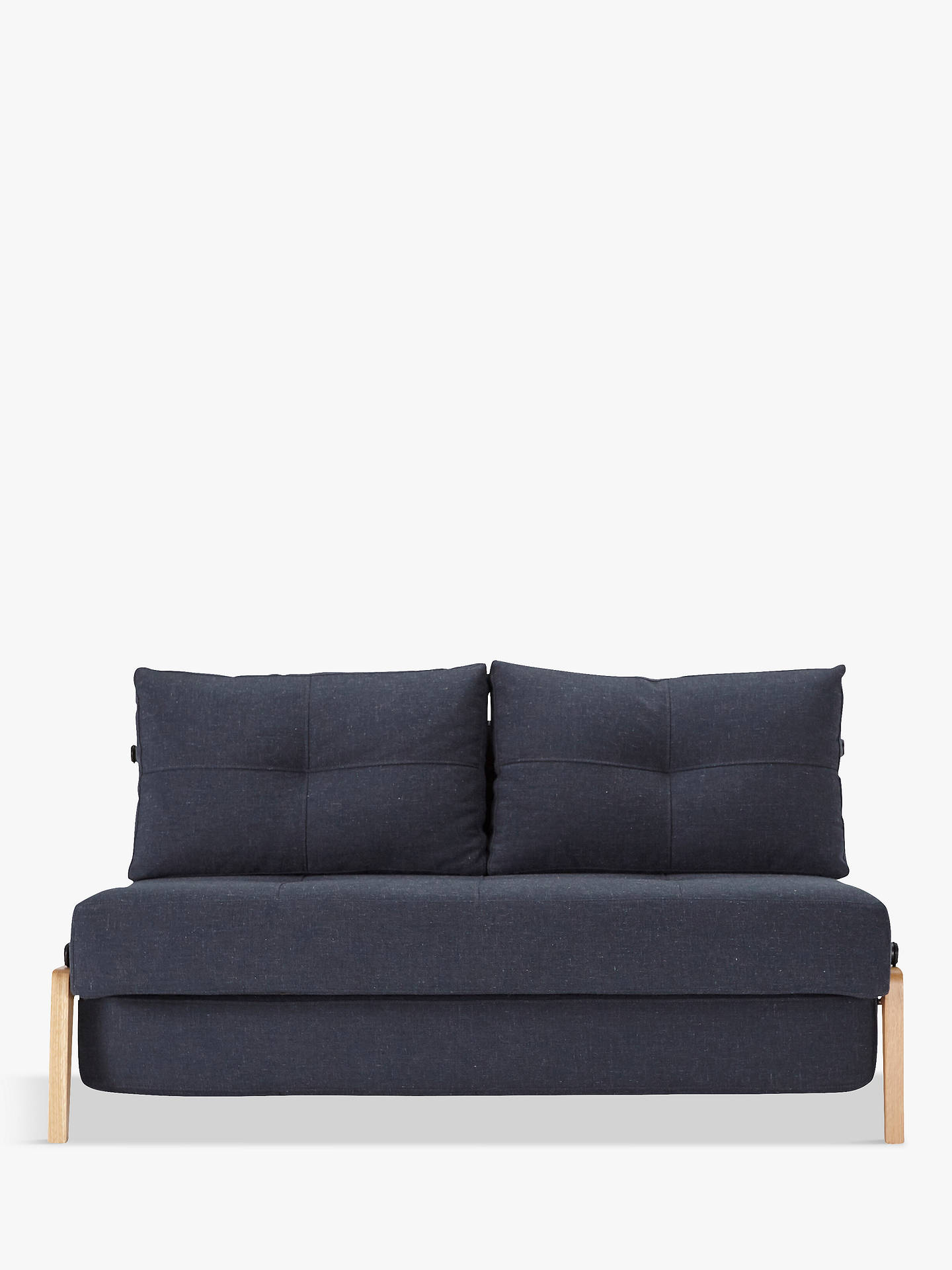 Innovation Cubed 140 Sofa Bed With Serpentine Sprung Foam Mattress Nist Blue Online At Johnlewis