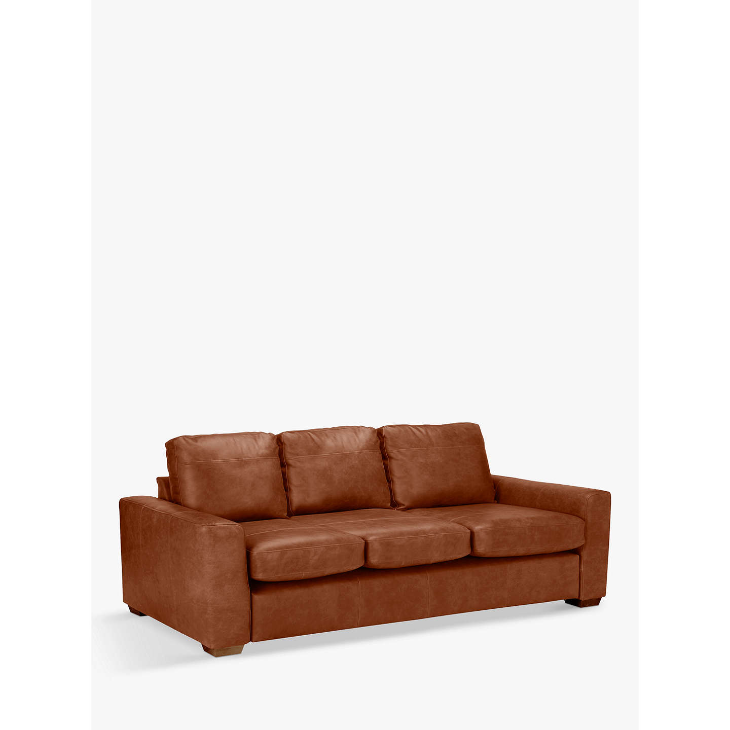 Merveilleux BuyJohn Lewis Oliver Grand 4 Seater Leather Sofa, Dark Leg, Luster  Cappuccino Online At ...