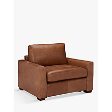 Buy John Lewis Oliver Leather Snuggler, Dark Leg Online at johnlewis.com