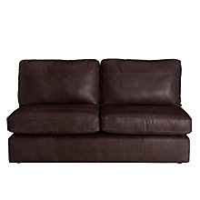 Buy John Lewis Oliver Large 3 Seater Armless Leather Sofa, Dark Leg Online at johnlewis.com
