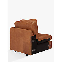 Buy John Lewis Oliver Leather Armless Modular Corner Seat Unit, Dark Leg Online at johnlewis.com