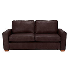 Buy John Lewis Oliver Large 3 Seater Leather Sofa, Dark Leg Online at johnlewis.com