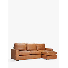 Buy John Lewis Oliver Leather Modular Chaise Sofa Pack, Dark Leg Online at johnlewis.com