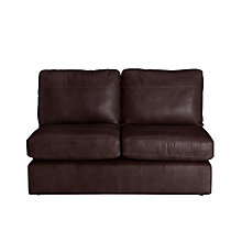Buy John Lewis Oliver Leather Modular Small 2 Seater Armless Sofa Unit Online at johnlewis.com