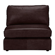 Buy John Lewis Oliver Leather Modular Snuggler Armless Unit Online at johnlewis.com