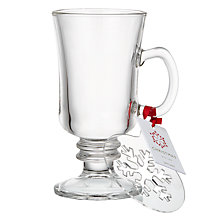 Buy John Lewis Hot Drink Glass and Snowflake Stencil, 230ml Online at johnlewis.com