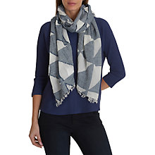 Buy Betty Barclay Textured Scarf, Classic Blue/white Online at johnlewis.com