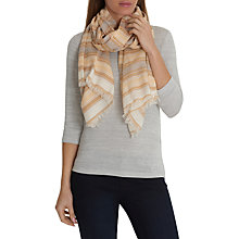 Buy Betty & Co. Long Striped Scarf, Cream/Yellow Online at johnlewis.com