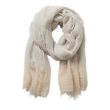 Buy Betty & Co. Long Fringed Scarf, Grey/White Online at johnlewis.com