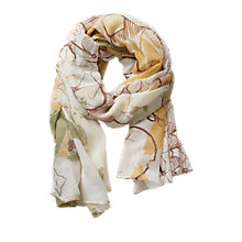Buy Betty Barclay Garden Print Scarf, Cream/Yellow Online at johnlewis.com