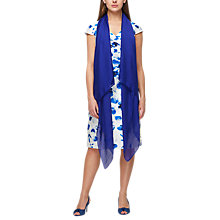 Buy Jacques Vert Silk Mix Long Scarf, Bright Blue Online at johnlewis.com