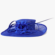 Buy John Lewis Sinamay Dehlia Side Up Occasion Hat, Cobalt Online at johnlewis.com
