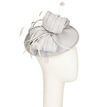Buy John Lewis Cassy Disc and Bow Fascinator, Silver Online at johnlewis.com